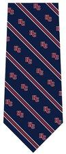 "Mens ""HC"" tie. Navy, dark red, gray"
