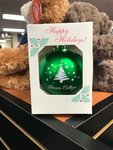 Holiday ornament with tree design