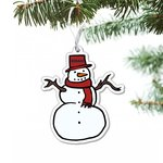 Snowman acrylic ornament