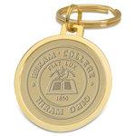 Split wire key ring w/Hiram Seal Medallion