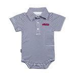 GARB infant boy Carson striped poly onesie