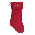 Knit holiday stocking. one size