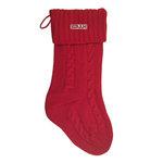 Knit holiday stocking. one size