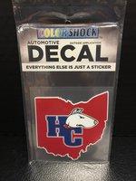 Window color shock decal - Ohio HC logo