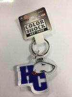 HC dog head key tag