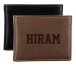 Leather embossed ID wallet