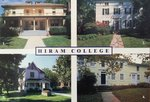 Hiram College 4 Buildings post card