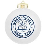 Shatterproof holiday ornament with Hiram seal