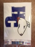 Removable HCdog logo decal 51/2 x 61/2