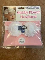 Baby shabby flower headband with HC dog logo