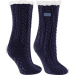 Dual layered sherpa lined lounge sock/slipper