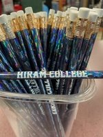Pencil, jewel color with Hiram College white imprint