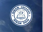 Window color shock decal - Hiram College seal