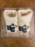 Hiram College boxed sock booties