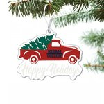 Red truck acrylic ornament